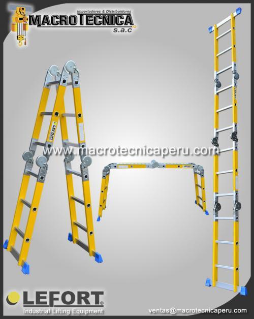 Tecle manual y electrico escaleras en fibra y aluminio for Escaleras fibra