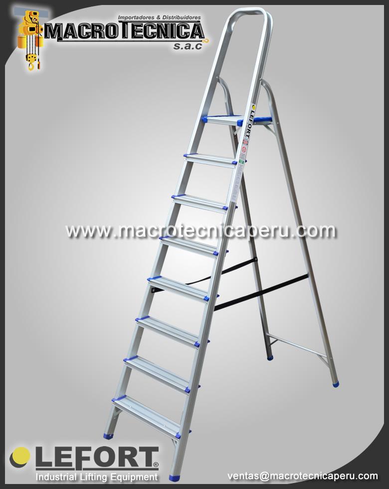 Escalera de Aluminio Lefort con Plataforma