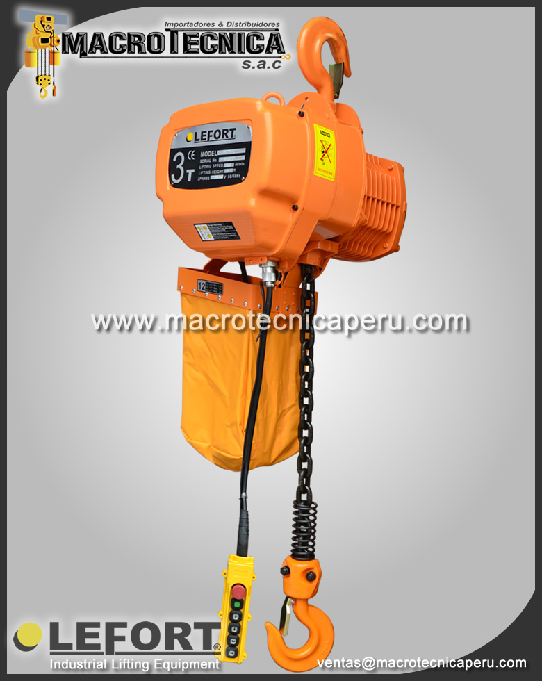 Tecle Electrico Lefort 3 Ton