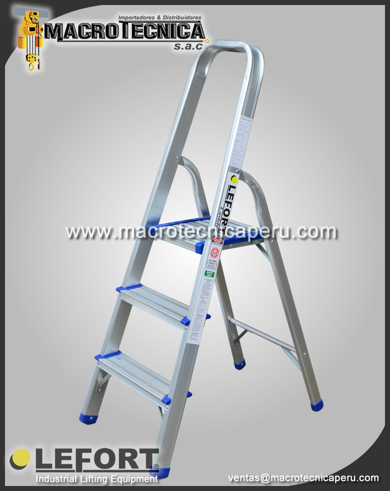 Escalera de Aluminio Lefort 2 Pasos
