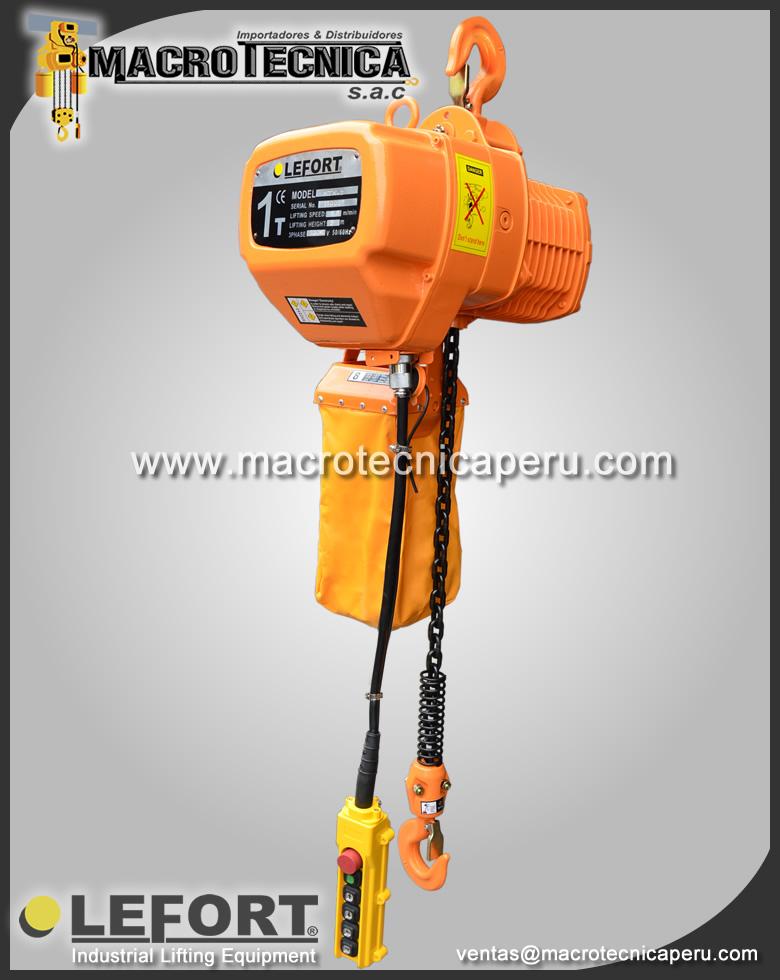 Tecle Electrico lefort 1 ton
