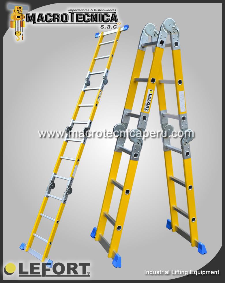 Escalera de fibra Convertible