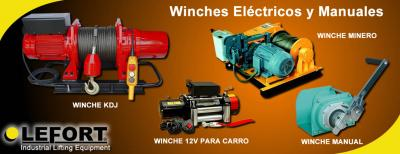 Winches Electricos y Manuales